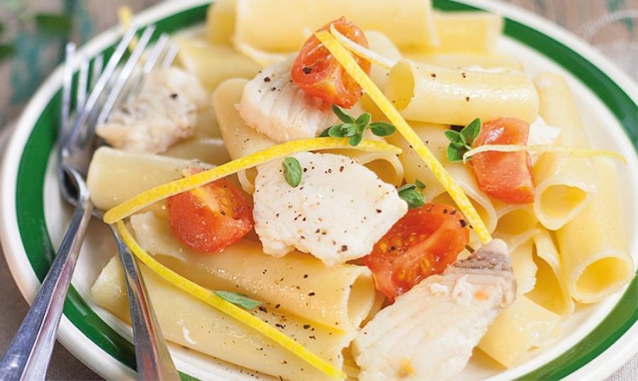 Candele al pesce spada con limone di Amalfi e pomodorini